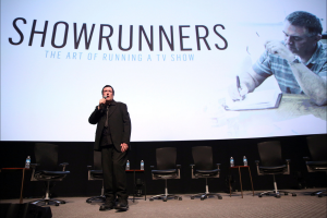 Director Des Doyle introduces the LA Premiere screening at the Television Academy's Leonard H.Goldenson Theatre